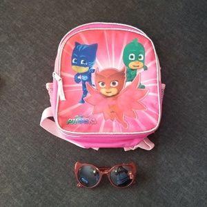 PJ Masks Bookbag and Sunglasses